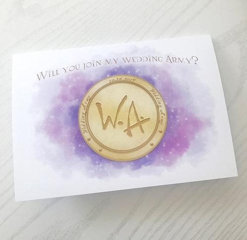 Wedding Army // Custom Dumbledore's Army Wedding Party Card // Hogwarts Wedding