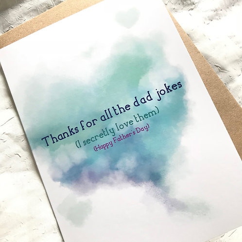 Dad Jokes // Father's Day Greeting Card // Funny Card for Dad