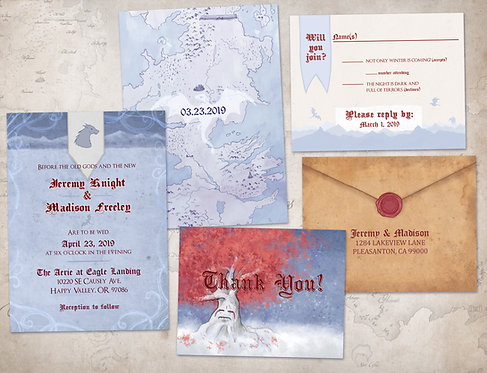 Game of Thrones Inspired Wedding Invitations // Digital Invites // A Song of Ice