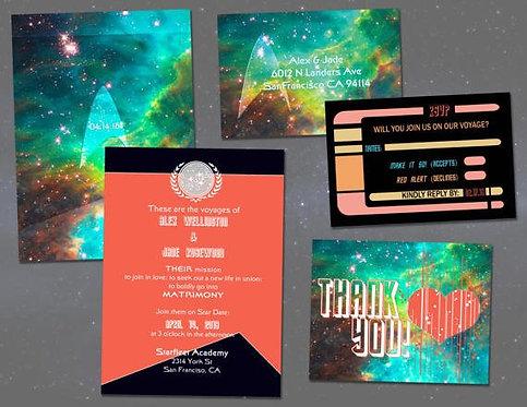 Star Trek Wedding Invitation Set // Digital Invitations // Geeky DIY Wedding