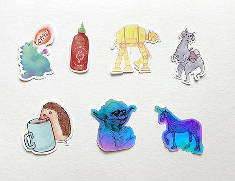 Die-Cut Awkward Stickers // Awkward Sticker Set