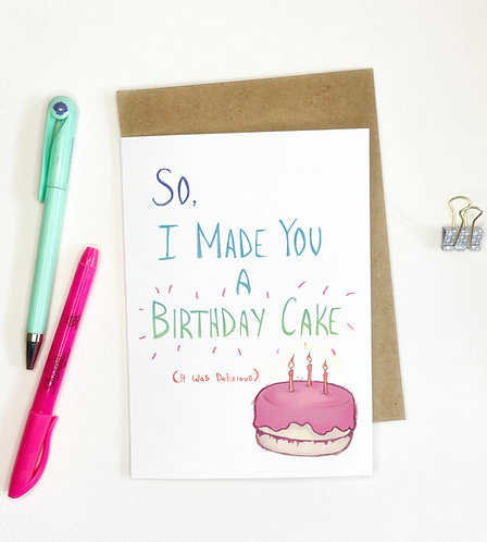 Delicious Happy Birthday // Funny Greeting Card