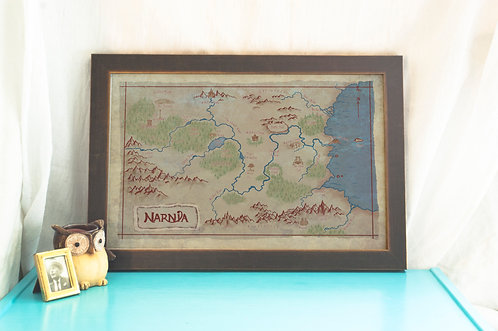 Map of Narnia // The Lion, the Witch and the Wardrobe Art // Chronicles of Narni