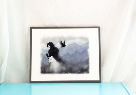 Jon Snow // Game of Thrones Art Print/ Game of Thrones Illustration/ Song of