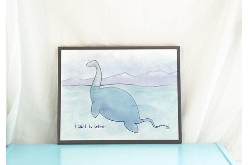 Believe // Nessie Art Print