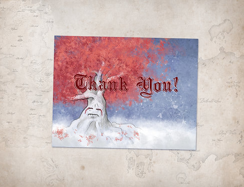 Game of Thrones Thank You Card // Printable File