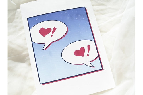 Comic Book Love // Geeky Wedding Congratulations Card