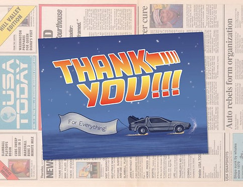 Back to the Future Thank You Card Template // Instant Download // Geeky Thank Yo