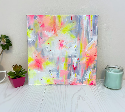 Here // Abstract Acrylic Painting on Stretched Canvas