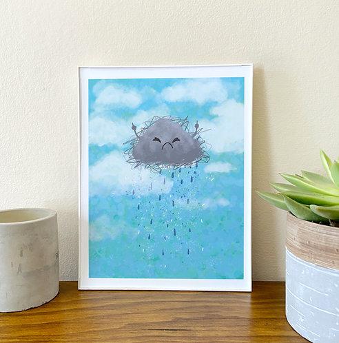 Jerk Cloud // Funny Life Wall Art // Humor Home Decor