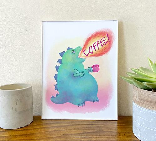 Mornings // Coffeezilla Illustration/Art Print