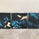 Thumbnail: Dusk // Original Abstract Gold Leaf Triptych