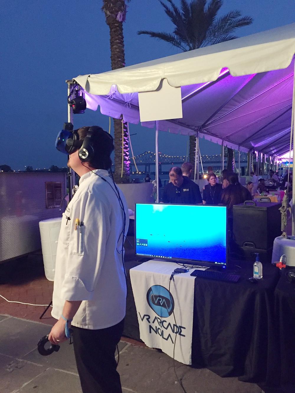 An outdoor virtual reality life