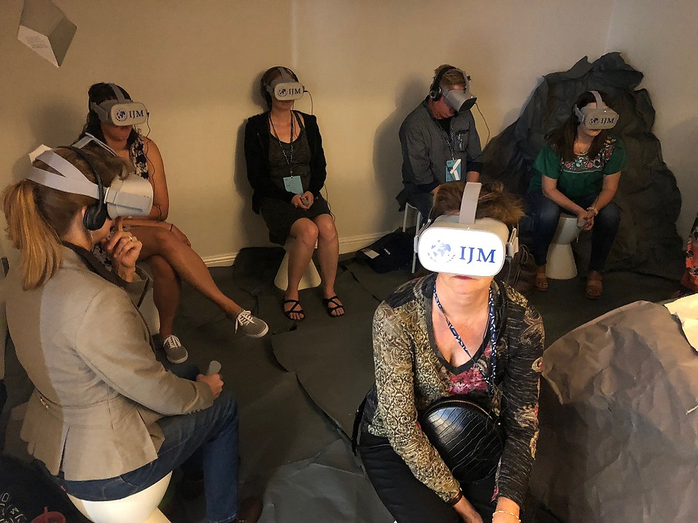 IJM Virtual Reality non profit event