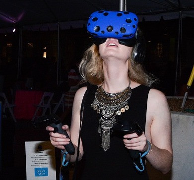 Woman Trying Virtual Reality For The First Time
