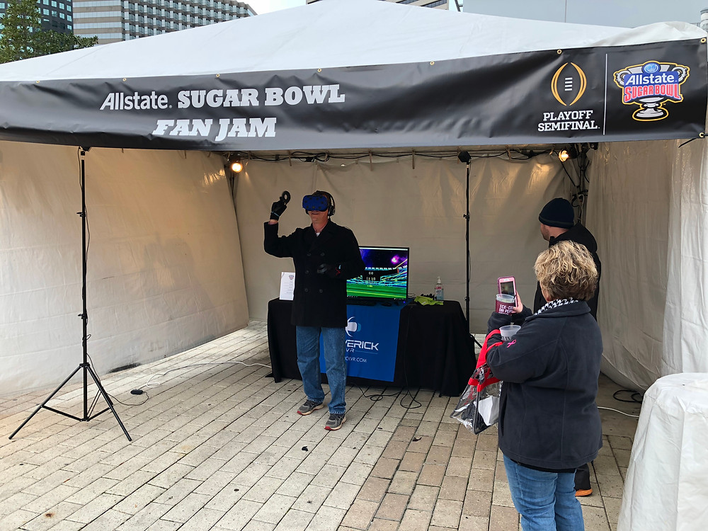 Virtual Reality Rental for The Allstate Sugar Bowl Fan Jam