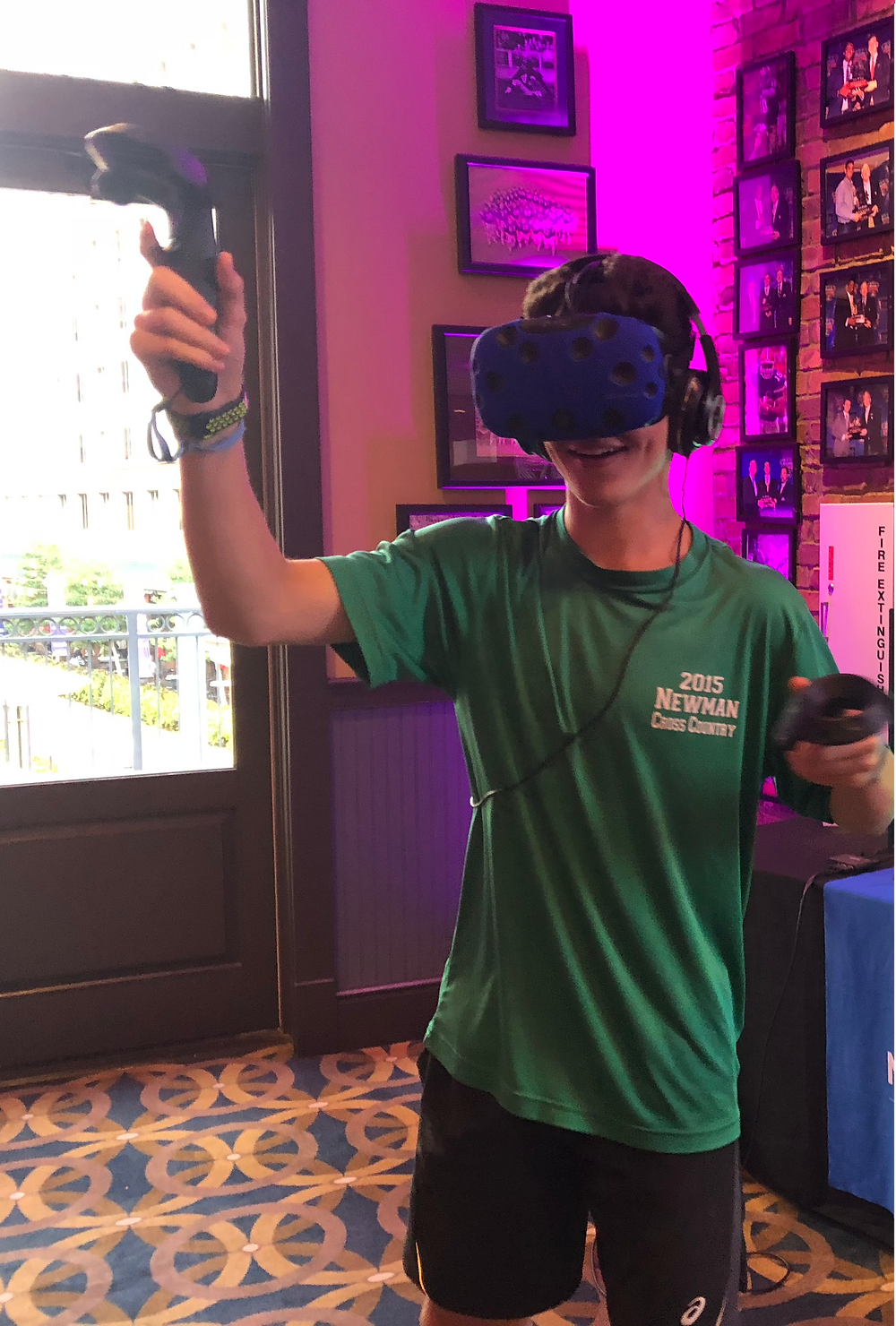 Kid Playing Virtual Reality At A Bar Mitzvah