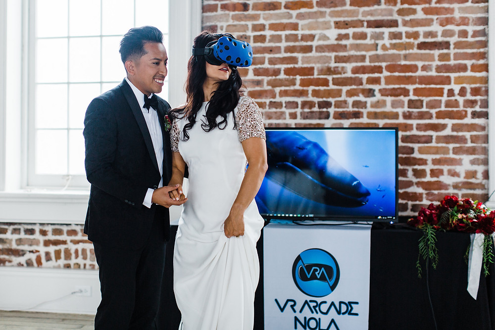 Virtual Reality Rental at a Wedding