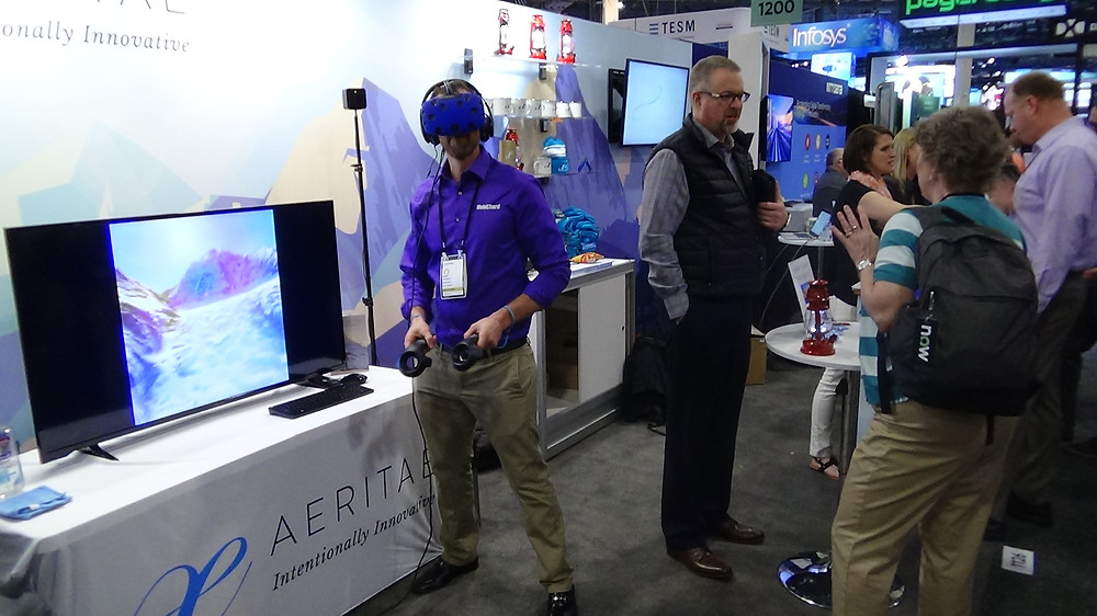 VR Booth at a Las Vegas Trade Show