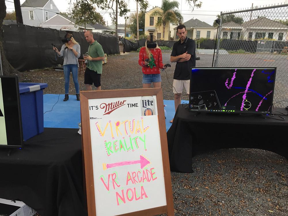 Outdoor virtual reality rental