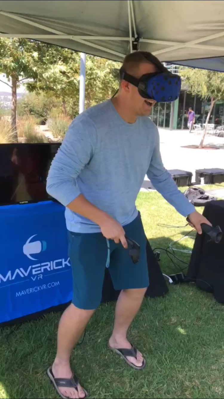 VR Rental Booth At A University Event