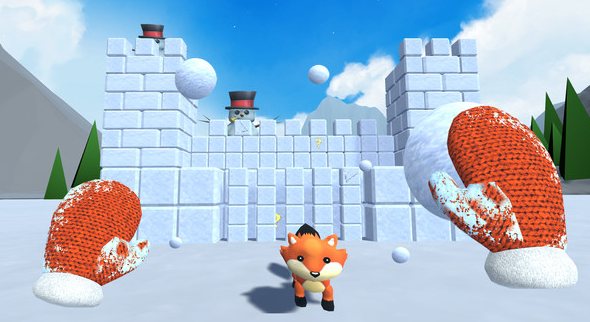 Snow Fortress virtual reality game