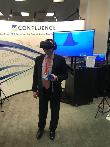 Virtual Reality Booth at a Corporate Conference