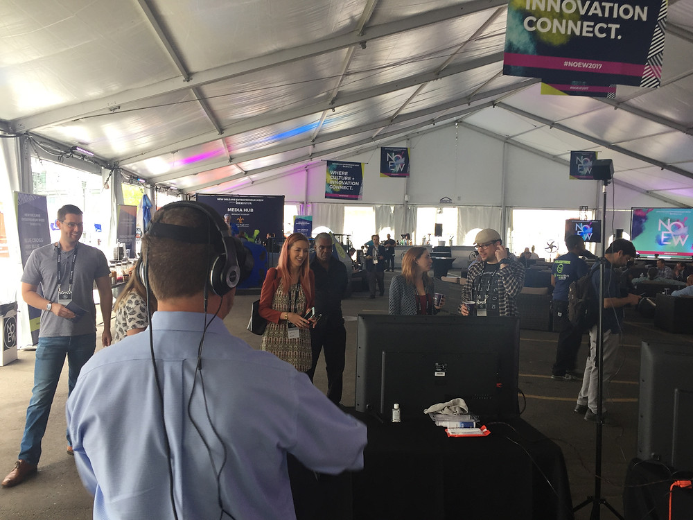 Virtual Reality Rental under a tent