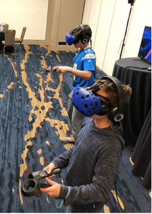 Some Younger Players At The VR Booth At Beaver Creek Holiday Party