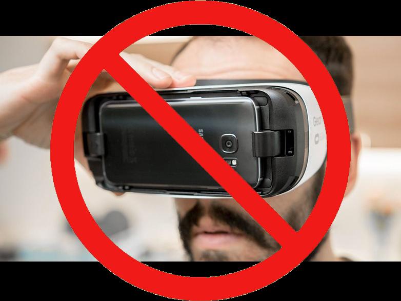 Man Wearing A Smart Phone Headset