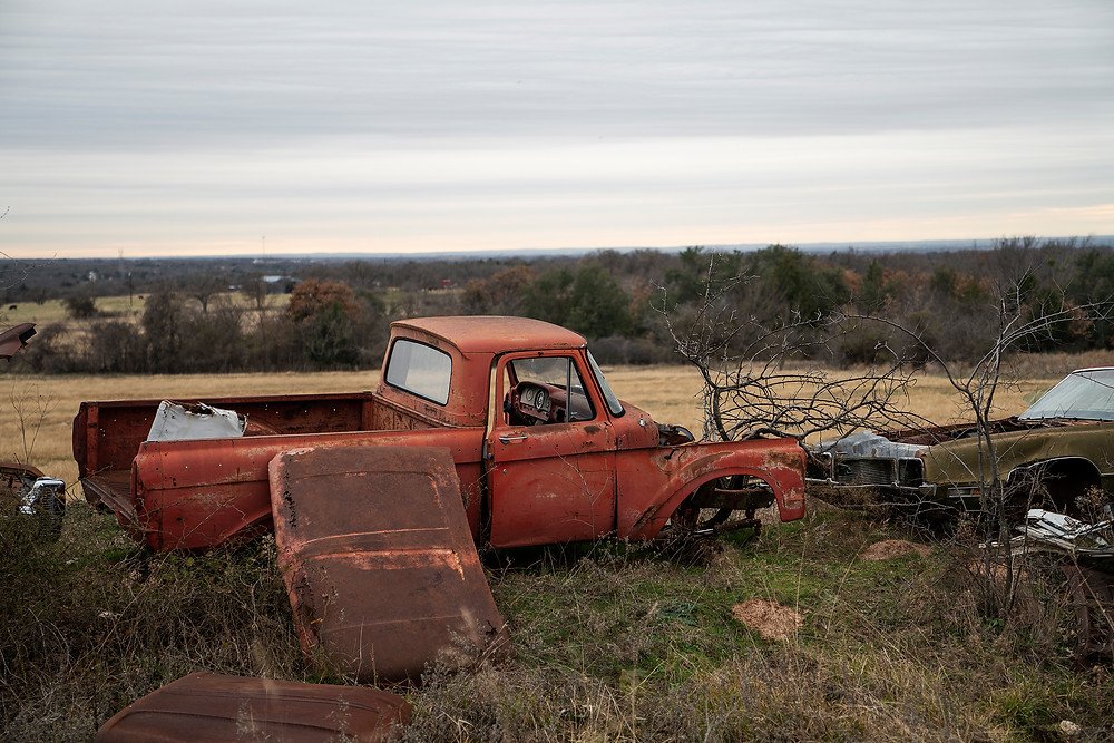 Abandoned Ford farm truck