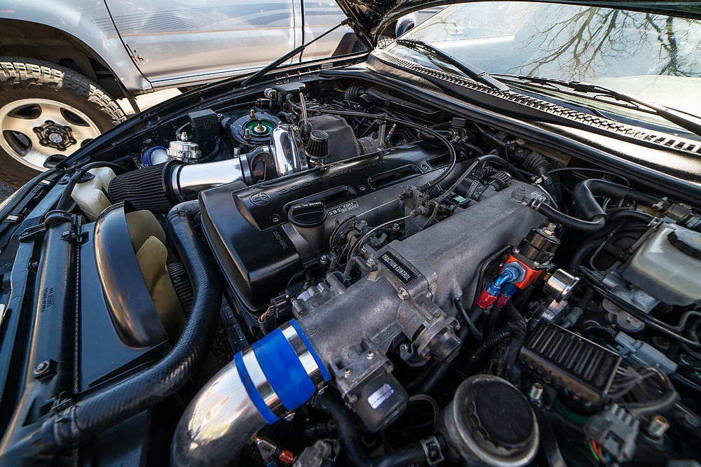 2JZ-GTE engine in a Toyota Supra