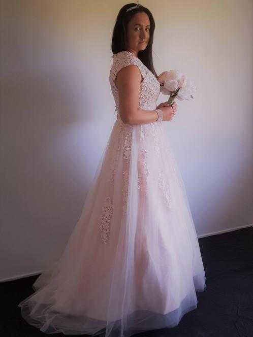 Soft Pink Wedding Dress   Affordable Wedding Dresses   Sheldon ...