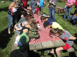 Kids pie eating contest