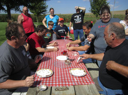 Adult pie eating contest