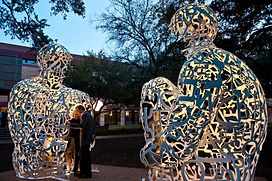 Rice University - Plensa Art Installation