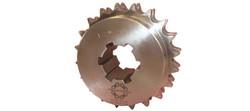 Kedjehjul för splinesaxel