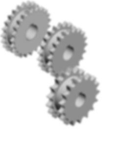 Kedjehjul för två enkla rullkedjor