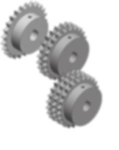 Simplex, duplex och triplex kedjehjul