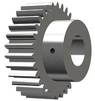 Cylindriskt kugghjul med nav 3D