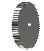 Cylindriskt kugghjul utan nav 3D