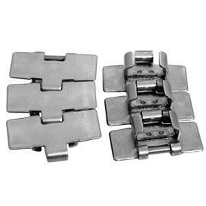 Sidböjlig bandkedja av rostfritt stål eller kolstål