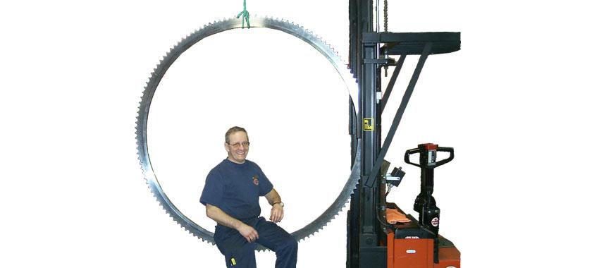 Kedjehjul med axelhål Ø1542 mm