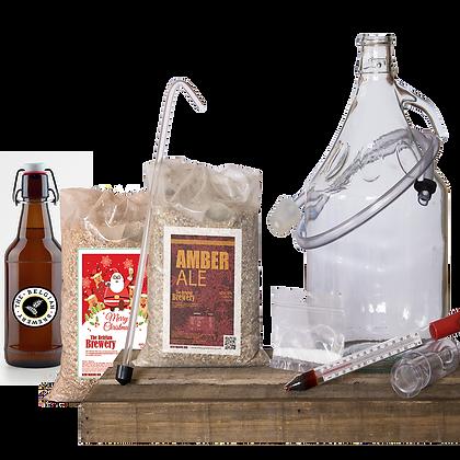 PACK Kit double beer 2x5l & bottles - AMBER-CHRISTMAS