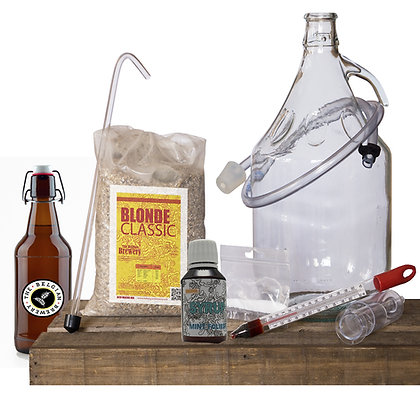 PACK Kit beer 5l, MINT FOLIES TBB Syrup & bottles - BLONDE