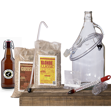 PACK Kit double beer 2x5l & bottles - BLONDE-GUEUSE