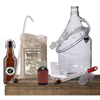 PACK Kit beer 5l, RASPBERRY TBB Syrup & bottles - BLANCHE