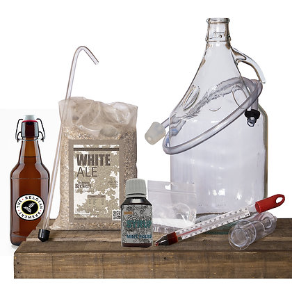 PACK Kit beer 5l, MINT Folies TBB Syrup & bottles - BLANCHE