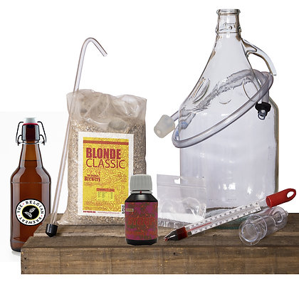 PACK Kit beer 5l, RASPBERRY TBB Syrup & bottles - BLONDE