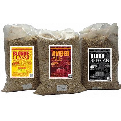 Lot de 3 Sachets Céréales 3x5l - Blonde - Ambrée - Black Belgian